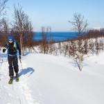 lyngen russelvfjellet ski touring hiking